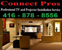 Professional residential & commercial TV wall mounting service*