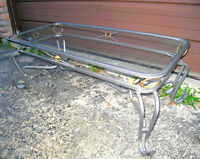 Nice Metal Coffee Table with Glass Top in good condition
