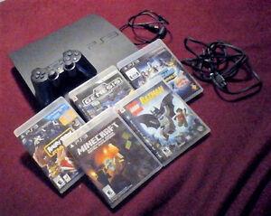 Sony PlayStation 3 Slim 120GB Charcoal Black + Controller