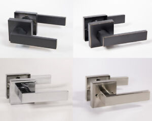 Lisbone Modern Square Interior Door Handles Levers Lock Set