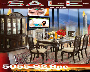dining & kitchen room full sets, tables, chic armchairs, 5055