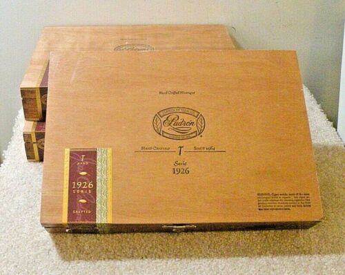 """3 LARGE 11""""x7.75"""" Padron Wood Storage Boxes<>A Lot Of Storage For $9"""