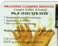 Your LOCAL Residential Cleaning Services... Bonded & Insured