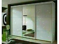 🔵 Super Sale 🔵 BERLIN 2&3 SLIDING DOORS WARDROBE IN 5 DIFF SIZES & IN DIFF COLORS 🔵