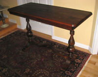 1 Gorgeous Antique Solid Walnut Hall / Console Table. 1 Buffet