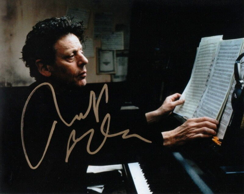 PHILIP GLASS.. Iconic Composer - SIGNED
