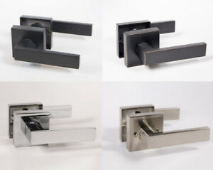 Lisbone Modern Square Interior Door Handles Levers