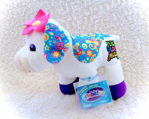 Webkinz Peace Love Moosic Hippie Rockerz Cow Plushie NEW CODE