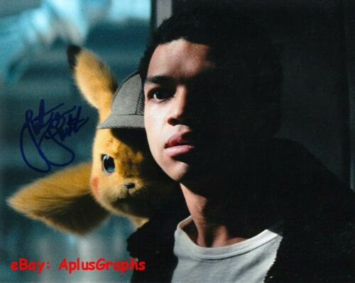 JUSTICE SMITH..  Pokémon Detective Pikachu's Tim Goodman - SIGNED