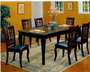 AMAZING DEAL - 7 PIECE LEATHER CHAIR DINING TABLE SET STARTS