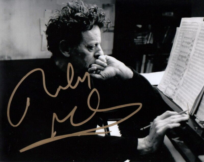 PHILIP GLASS.. Minimalist Composer - SIGNED
