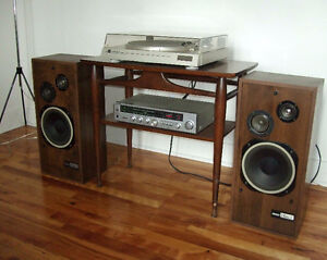Vintage Stereo with Dual Turntable