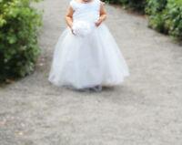 Flower girl dress, little girl dresses and sandals