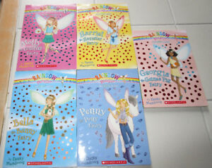 """5x Rainbow Magic Chapter books """"The Pet Fairies"""" ages 6-9"""