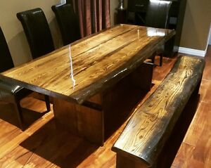 Custom Made Live Edge Dining Room Table