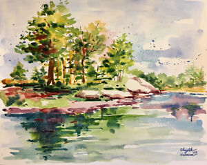 Original Watercolor Painting in Expressionism style