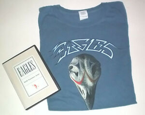 Eagles Concert T Shirt XL and Hell Freezes Over DVD Set