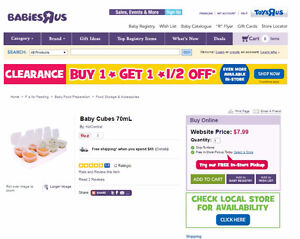 Baby cubes - BPA free - 2 trays (total 16 cubes)