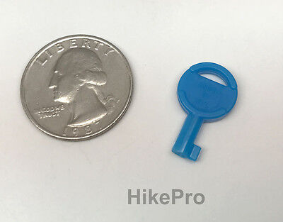 Usa Non-metallic Covert Evasion Tactical Hide Out Universal Handcuff Key - Blue