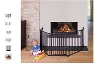 brand new safety gate safetu guard Hauck Fireplace Guard XL Charcoal /can deliver