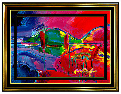 PETER MAX Original Signed PAINTING Pop ART SPRING Acrylic Oil Iconic Four Season