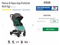 *NEW* M&P Argo Pushchair Duck Egg
