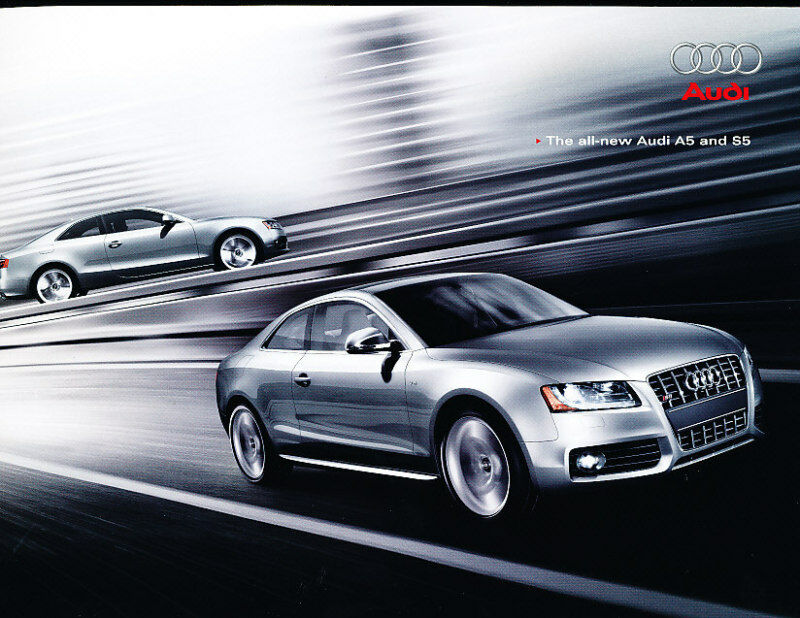 2008 Audi A5 and S5 Coupe 40-page Deluxe Original Car Sales Brochure Catalog