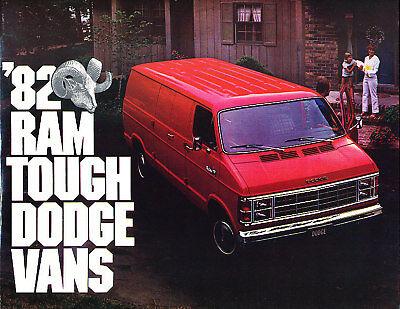 1982 Dodge Ram Wagon Van Original Sales Brochure Book Dodge Ram Van Wagon
