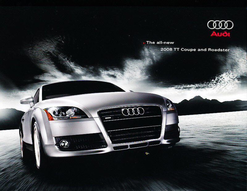 2008 Audi TT Coupe Roadster 40-page Deluxe Sales Brochure Book