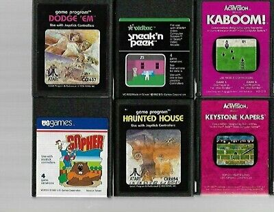 Lot of 15 Atari 2600 Games - Tested Working - Missile Command, Pacman & More!