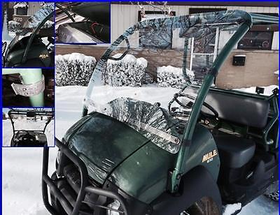 "Kawasaki MULE 610 Windshield ""Hard Coated"" Polycarbonate P/N: 12754"