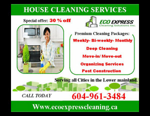 Coquitlam /Port Moody /Pitt Meadows House Cleaning 604-961-3484