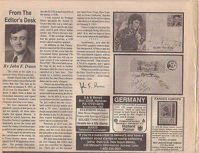 EP FDC #1 - THE MOST VALUABLE ELVIS PRESLEY STAMP & FIRST DAY COVER IN THE WORLD