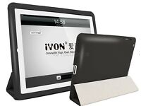 iYON Smart Faux Leather Flip Case for iPad 2/3/4 (Black)
