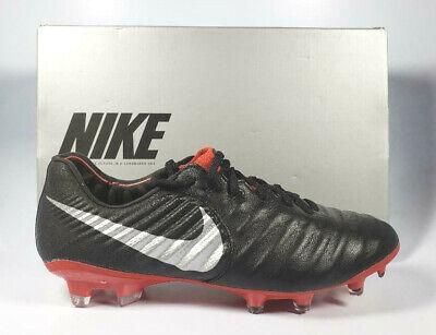 sale retailer 15541 b960e Nike Tiempo Legend VII ELITE FG Cleats AH7238-006 Men Size 6 Wmn Size 7.5  Black