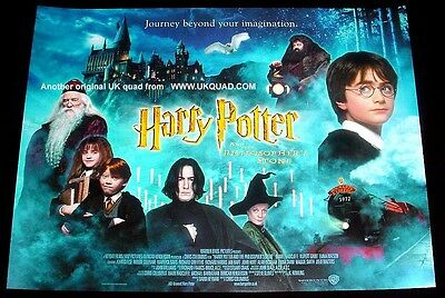 HARRY POTTER POSTER ORIGINAL 2001 UK CINEMA ISSUE MINT CONDITION 16x12 inches