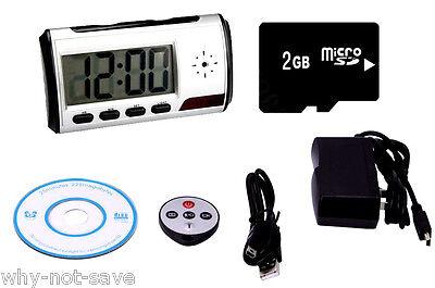 4GB HD Mini DVR Digital Alarm Clock Camera Recorder Security Hidden spy cam USA