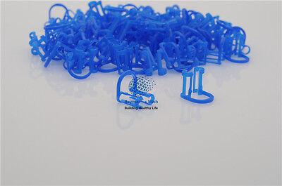 Dental Plasdent Cotton Roll Holder Disposable Isolator Tool 50pcs