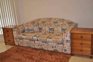 Scotchgarded Fabric Sofa Bed in Great Condition Luddenham Liverpool Area Preview