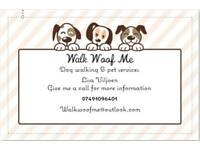 Dog walking and pet service