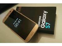 Samsung s7 gold 32 GB unlocked boxed with accessories