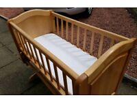Mothercare gliding baby crib