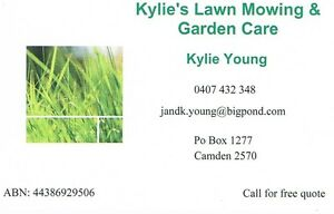 kylie's lawn mowing and garden care Camden Camden Area Preview