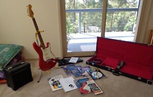 Electric Guitar with Amp, tuner, stand, gig case, quadraverb, etc Woodford Blue Mountains Preview