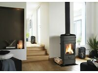 Wood burner multi fuel stove fire air wash brand new