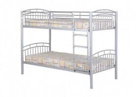 Ventura Single Bunk Bed Frame - Silver