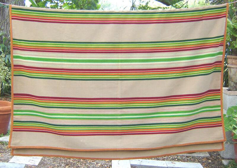 PENDLETON route 66 Arizona 1930s trade BLANKET stripes 56 x 76 wool