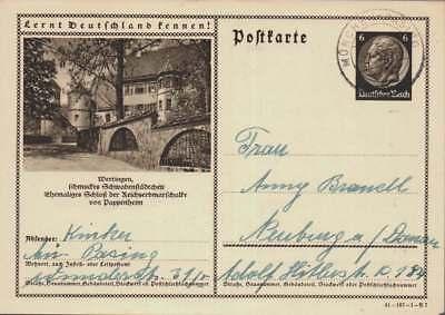 D.Reich Ganzsache P 236 WERTINGEN gelaufen MÜNCHEN  (43398)