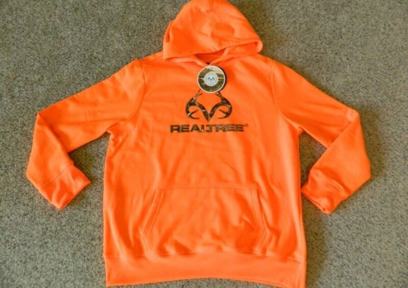 Realtree blaze orange boys Large hoodie youth large new with tags