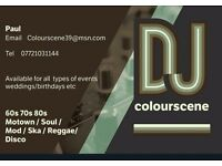 Dj for hire for all occasions.weddings,Birthdays etc.All genres catered for.Reliable and reasonable.